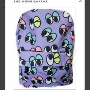 Crazy Eyes School Backpack Girl Purple Googly NWT